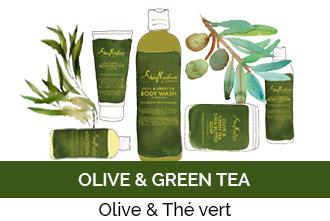 Découvrez la gamme Olive & Green Tea