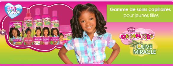 Dream kids gamme de soins capillaires pour jeunes filles