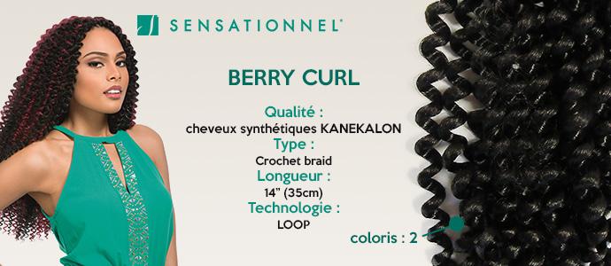 SENSATIONNEL, natte BERRY CURL