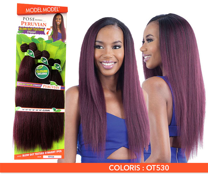 MODEL MODEL TISSAGE BLOW OUT TEXTURE STRAIGHT