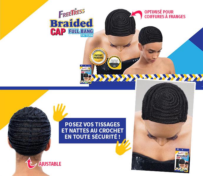 BRAIDED CAP FULL BANG PATTERN