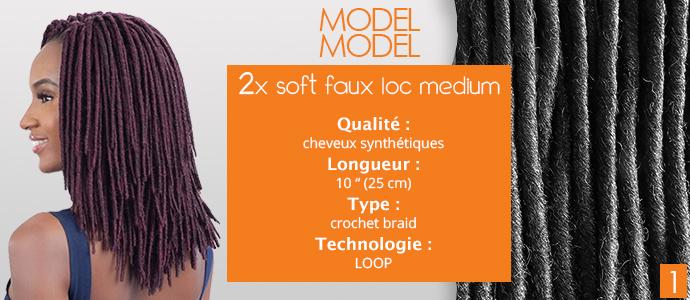 """MODEL MODEL, 2x soft faux loc 10"""""""
