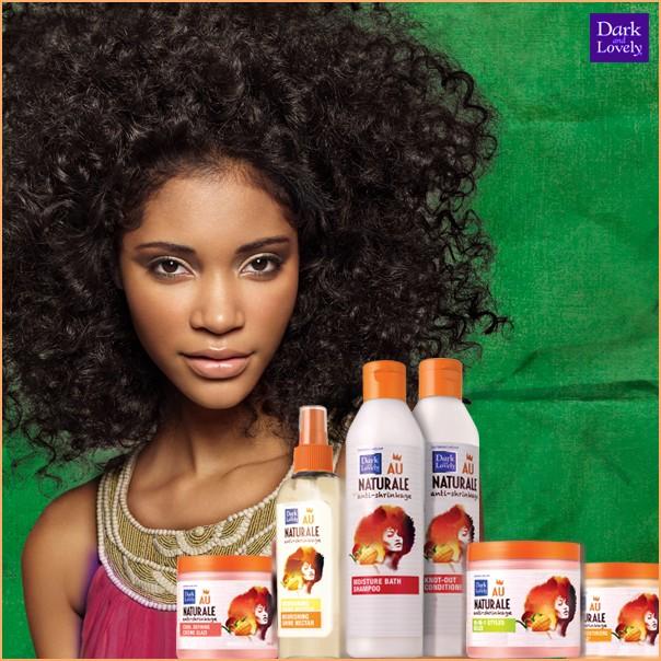 Toute la gamme Dark & Lovely Au Naturale pour cheveux naturellement bouclés et frisés