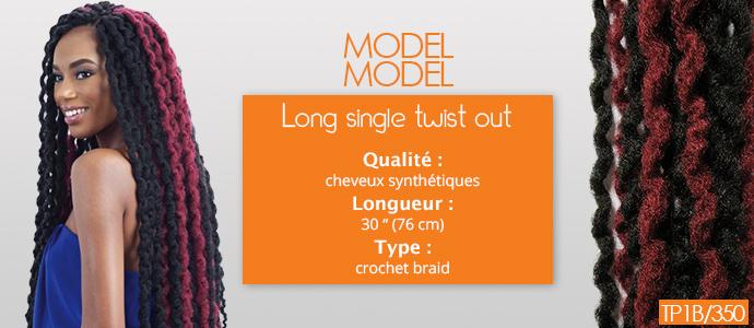 MODEL MODEL, long single twist out