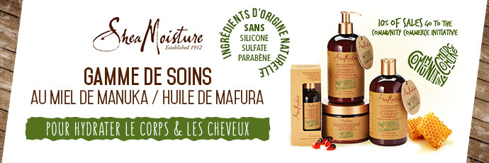 SHEA MOISTURE MANUKA HONEY MARFURA OIL SUPERBEAUTE.fr