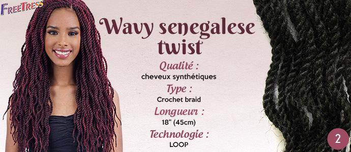 FREETRESS natte WAVY SENEGALESE TWIST