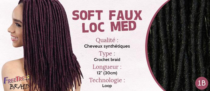 FREETRESS, natte SOFT FAUX LOC MEDIUM