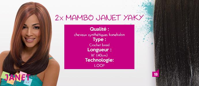 """JANET, 2x MAMBO JANET YAKY 16"""""""