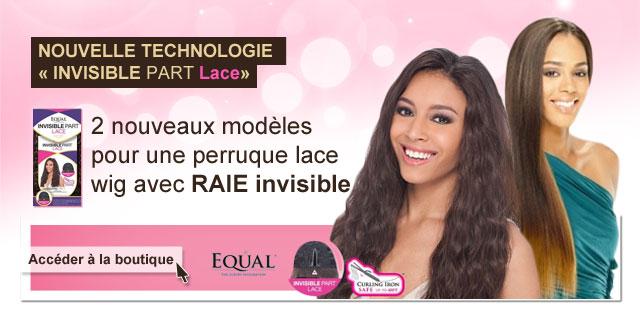 2 nouveaux modeles pour une perruque lace wig avec RAIE invisible