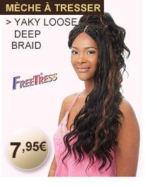 Freetress mèche à tresser YAKY LOOSE DEEP BRAID