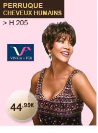 Vivica Fox perruque cheveux humains H 205