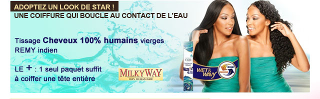 Tissage Milkyway Remy cheveux humains vierges