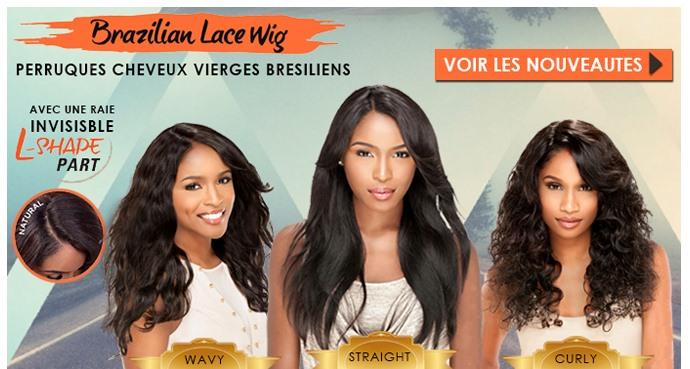 Nouvelles perruques cheveux vierges Bresiliens L SHADE PART