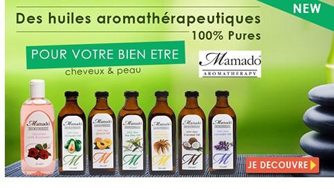 Nouvelle marque de soins aromatherapie MAMADO