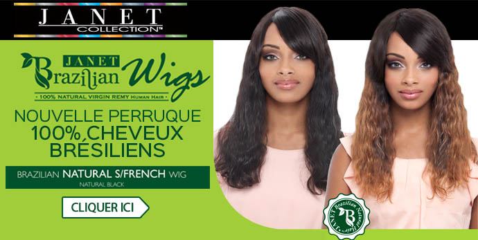 Nouvelle perruque Janet en cheveux Bresiliens