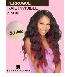 Sensationnel perruque Soul raie invisible