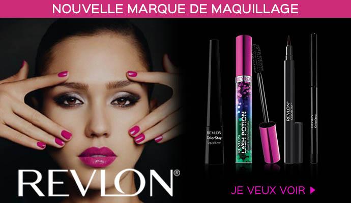 Nouvelle marque de maquillage Revlon