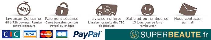 Livraison en 24 a 72h - Satisfaite ou remboursee - Livraison gratuite a partir de 79 euros de produits