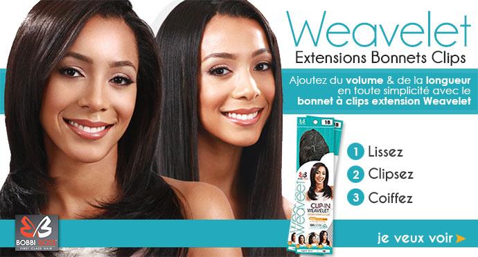 Extensions bonnets clips WEAVELET