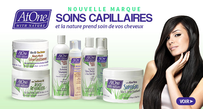 Nouvelle marque de soins capillaires AT ONE WITH NATURE