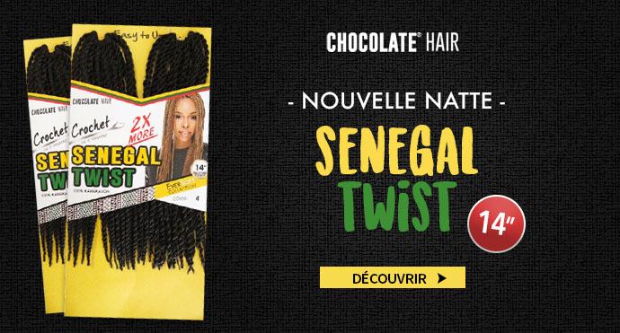 Nouvelle natte Senegal Twist CHOCOLATE HAIR