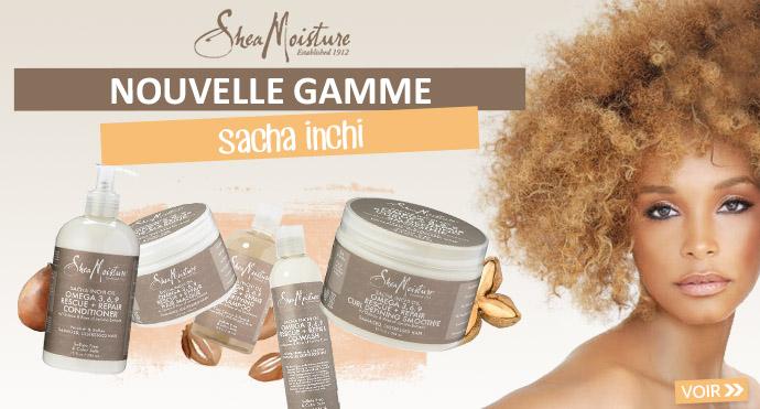 Nouvelle gamme Sasha Inchi de SHEA MOISTURE