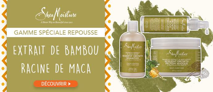 Nouveaux soins SHEA MOISTURE Bambou et Maca